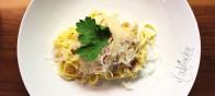 Pappadelle in würziger Peperonicreme mit Salsiccia und Kräuterseitlingen