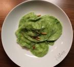 Ravioloni Verdi con Mozzarella di Bufala