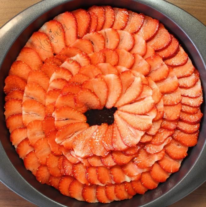 Erdbeer-Schoko-Chili Kuchen 1