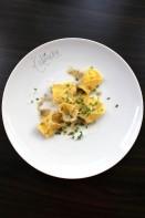 Tortellini mit Champignon – Hähnchen – Füllung