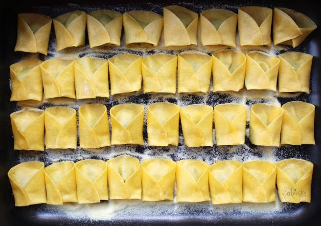 Tortellini mit Champignon-Hähnchen-Füllung 2