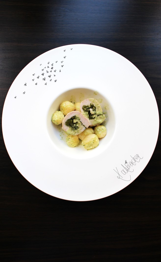 Putenrouladen mit Rucola Pesto und Gnocchi 1